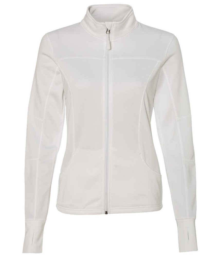 DRIEQUIP Womens Poly-Tech Full-Zip Track Jacket-S-White