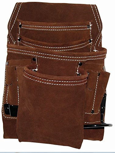 Bucket Boss 54063 10 Pocket Suede Leather Tool Pouch