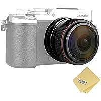 Meike Camera Lens 6.5mm F/2.0 Fisheye Lens Manual Focus Lens for Olypums Panasonic Micro 4/3 mount Camera + Venidice Cleaning Cloth