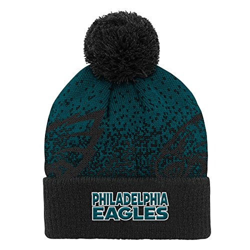 NFL Philadelphia Eagles Youth Boys Gradient Jacquard Cuffed Knit Hat Jade, Youth One Size