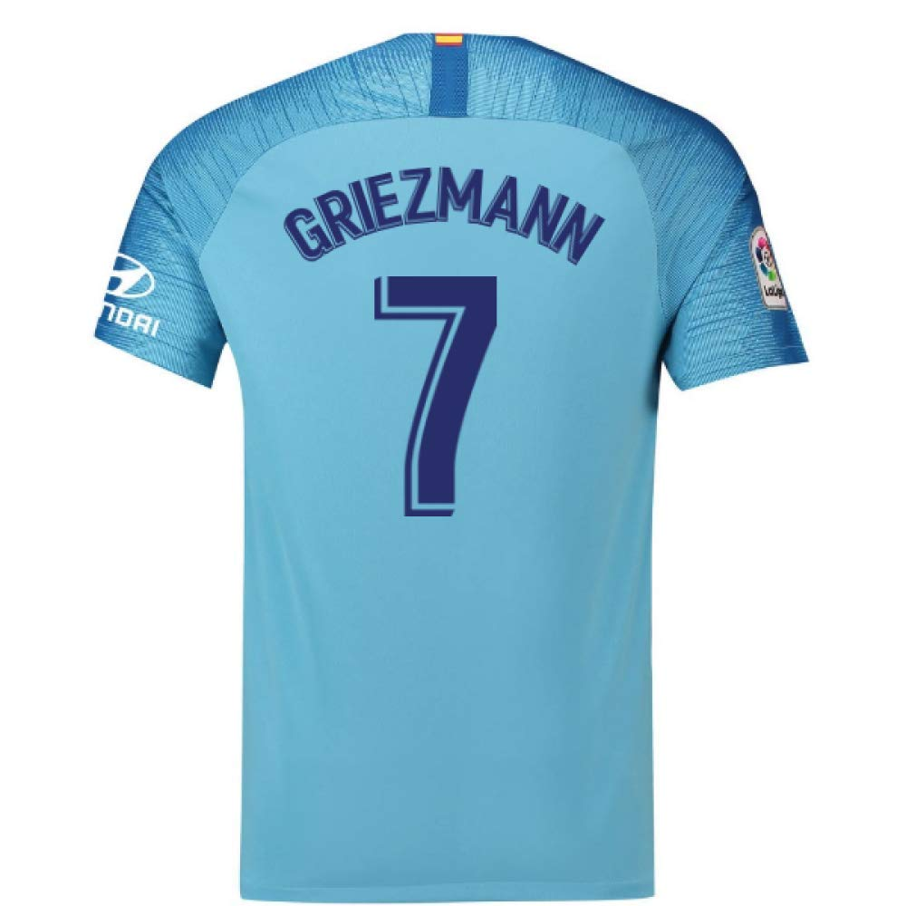 2018-19 Atletico Madrid Away Football Soccer T-Shirt Trikot (Antoine Griezmann 7) - Kids