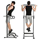 Power Tower, Adjustable Pull Up Chin Up Bar Standing Equipment Strength Fitness Workout Station for Home Gym (US STOCK)