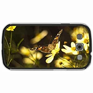 New Style Customized Back Cover Case For Samsung Galaxy S3 Hardshell Case, Black Back Cover Design Butterfly Personalized Unique Case For Samsung S3