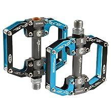 "ROCKBROS MTB Mountain Bike Pedals Flat Aluminum Alloy Platform Sealed Bearing Axle 9/16"""