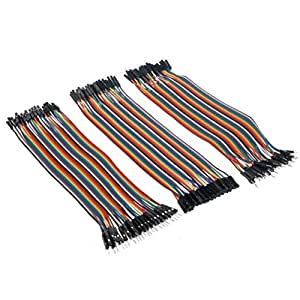 Honbay® 120pcs Multicolored 40pin Male to Female, 40pin Male to Male, 40pin Female to Female Breadboard Jumper Wires Ribbon Cables Kit