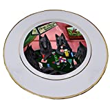 Home of Belgian Shepherd 4 Dogs Playing Poker Porcelain Plate