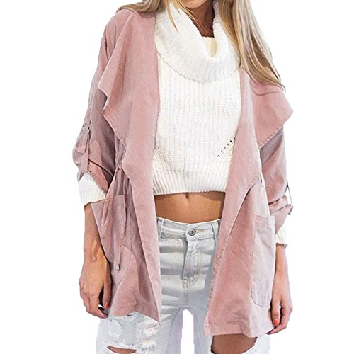 Vin beauty TOPmountain Coupe Vent Quotidien Manteau Parka Rose Polyester Femmes