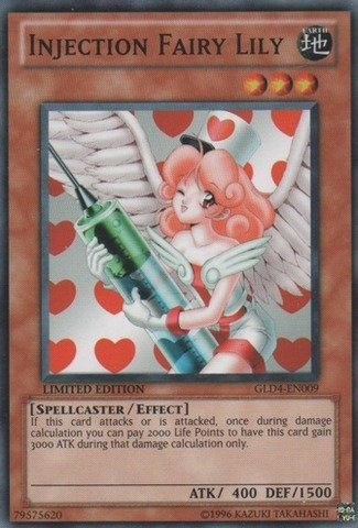 (Yu-Gi-Oh! - Injection Fairy Lily (GLD4-EN009) - Gold Series 4: Pyramids Edition - Limited Edition - Common)