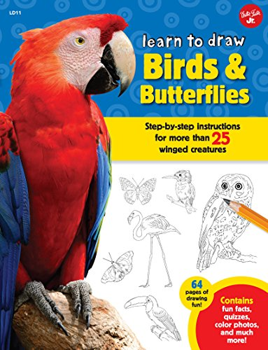 Learn To Draw Birds Butterflies Kindle Edition By Robbin Cuddy