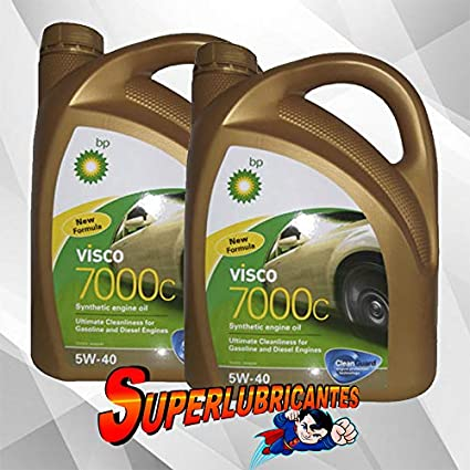 BP Visco 7000C 5W40 2x4L(8Litros): Amazon.es: Coche y moto