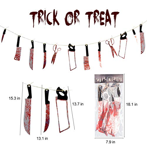 Halloween decorations 12 pieces fake weapons like fake