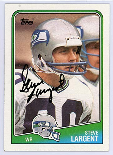 Hand Signed Steve Largent (Steve Largent Signed Auto 1988 Topps Card #135 Seattle Seahawks - Certified Authentic)