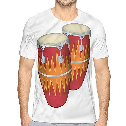 t Shirt Printer Music,African Cuban Congas Funky Junior t Shirt L ()