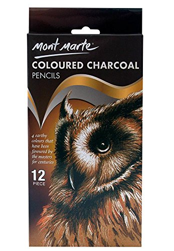 (Mont Marte Coloured Charcoal Pencils 12pce)