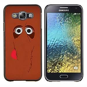 EJOOY---Cubierta de la caja de protección para la piel dura ** Samsung Galaxy E5 E500 ** --lindo mamut marrón de la historieta del elefante