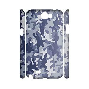 3D Samsung Galaxy Note 2 Cases Snow Camouflage For Women Protective, Samsung Galaxy Note 2 Cases For Women Protective [White]