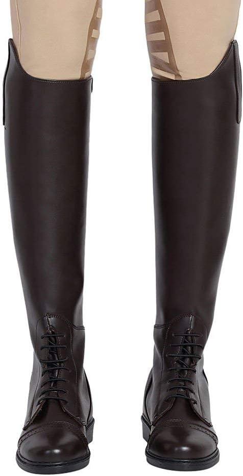 Mocha TuffRider Ladies Starter Back Zip Field Boots in Synthetic Leather 8 Wide