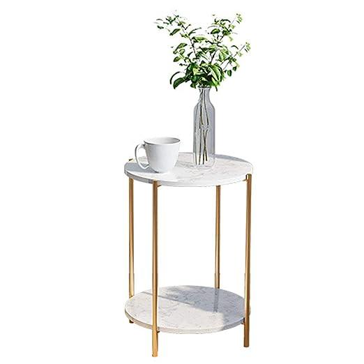 Amazon.com: Double Layer Coffee Table Modern Retro Style ...