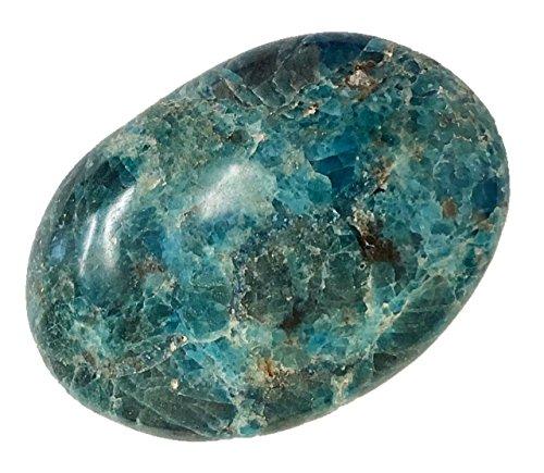 Blue Apatite Palm Stone from Madagascar - Reiki, Healing, Chakra