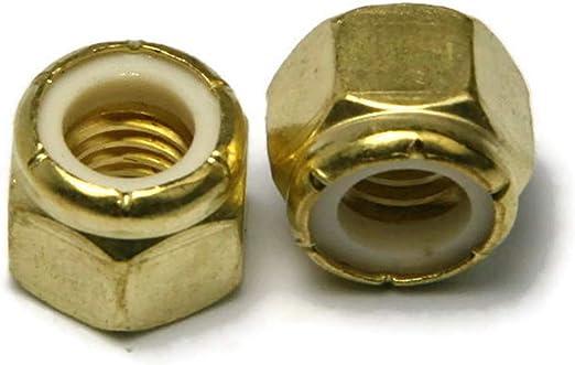Qty 100 Brass Hex Nut UNC 5//16-18
