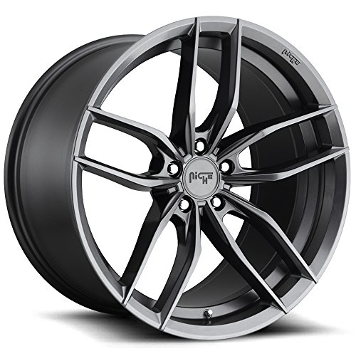 - Niche M204 Vosso 17x8 5x108 +40mm Gunmetal Wheel Rim 17