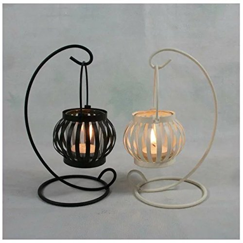 kunrong99 Pumpkin candlestick wrought iron candlestick,wedding gift romantic (Wrought Iron Pumpkin)