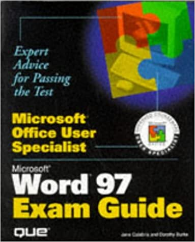 microsoft word exam guide microsoft office user specialist jane
