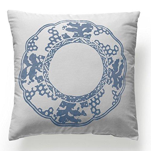 Jarrous Funda de Cojín Modelo Dorian, Color Reversible Azul ...
