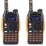 2 Pack Baofeng BF MARK II GT-3 Transceiver Talkie-Walkie Dual-Band DTMF RX CTCSS/DCS BCLO Two Way Radio * Version la plus Nouvelle en 2014 avec les Fonctions Renforcées et une Notice Conviviale + 1 Câble de Programmation