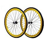 Fixie Wheels Fixed Gear, Flip-Flop Rear Wheels, Gold