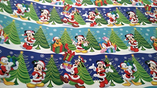 Christmas Wrapping Santa Hat Mickey Mouse Donald Duck Holiday Paper Gift Greetings 1 Roll Design Festive Wrap Disney Mickey (Holiday Themed Costumes)