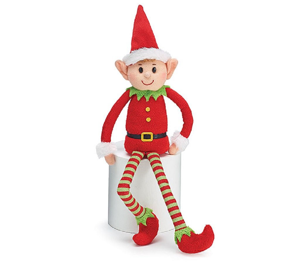 Amazon.com: Burton & Burton Plush Little Elf Soft Stuffed Santa ...