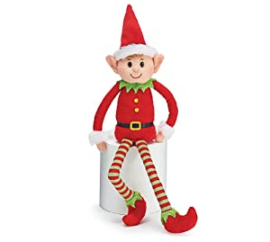 Burton & Burton Plush Little Elf Soft Stuffed Santa Helper Christmas Gift