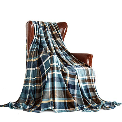 Blue Ultra Plush - MERRYLIFE Decorative Throw Blanket Ultra-Plush Comfort | Soft, Colorful, Oversized | Home, Couch, Outdoor, Travel Use | Large Size (90