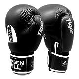 Greenhill TIGER Boxing Gloves (Black, 16 OZ)