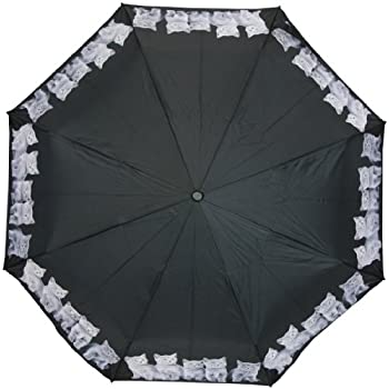 d85fcdd0490d Amazon.com : Aideess Outer Black Umbrella Bright Cat Lovers UV Anti ...