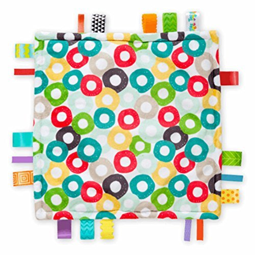 (Genuine Taggies Circles Plush Security Comforter Blankets by Taggies)
