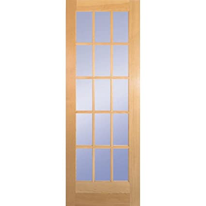 Clear Pine 15 Lite French Slab Door