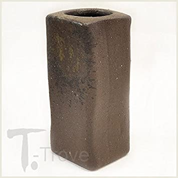 Dark Rust Rectangular Japanese Ceramic Vase Amazon Grocery