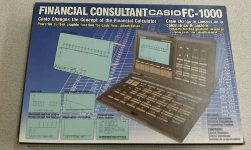 Casio FC1000 Graphics LCD financial calculator