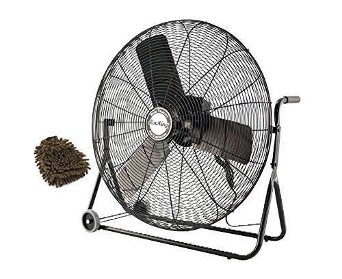 Air King 9224 Floor Fan, 24-inch, Black Finish, Industrial G