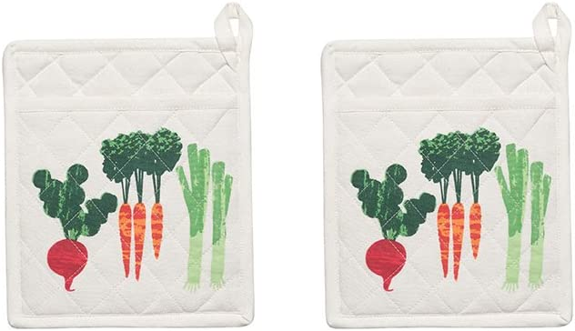 Now Designs Basic Potholders, Set of Two, Bakers Get Growing