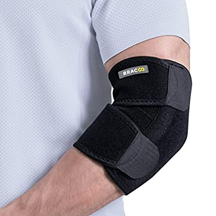 8072f85e0c Bracoo Elbow Support, Reversible Adjustable Brace with Dual Stabilizers for  Sprain, Joint Pain Relief