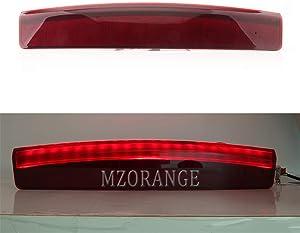 MZORANGE 3rd Third High Mount Stop Brake Light For Land Rover Range Rover L322 2002 2003 2004 2005 2006 2007 2008 2009 2010 2011 2012 Red Lens