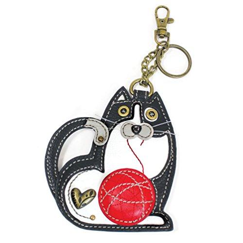 Chala Coin Purse/Key Fob (Black Cat)