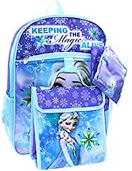 Elsa Frozen Disney Girls 5-Piece Backpack Set
