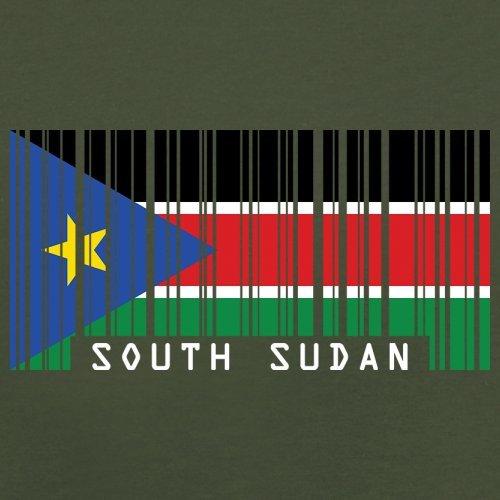South Sudan / Südsudan Barcode Flagge - Herren T-Shirt - Olivgrün - XL