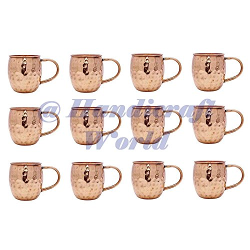 12 Pcs Copper Moscow Mule Mug Cup Tableware Bar Accessories Drinkware Glassware by Handicraft-World