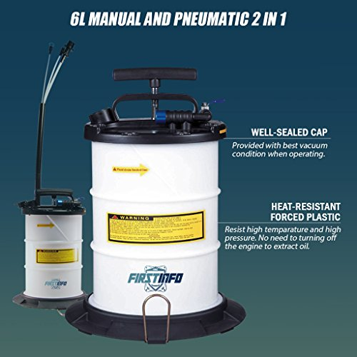FIRSTINFO 6L Pneumatic and Manual Operation Oil or Fluid Extractor by FIT TOOLS (Image #4)