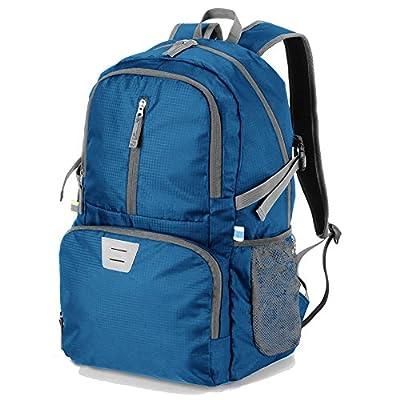 Lightweight Foldable Packable Backpack Hiking Daypack,Small Travel Outdoor Sport Camping Nylon Backpacks Little Bag for Women Men Blue